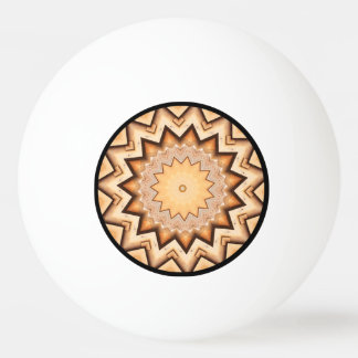 Earth Toned Spiral, Kaleidoscope Ping Pong Ball