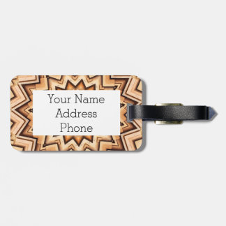 Earth Toned Spiral, Kaleidoscope Bag Tag
