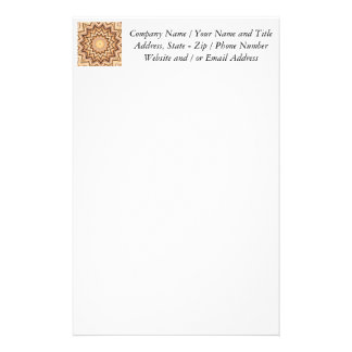 Earth Toned Spiral, Kaleidoscope Customized Stationery