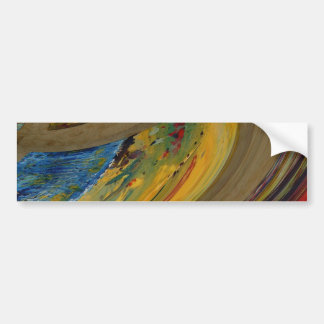 Earth Tones Abstract Bumper Sticker
