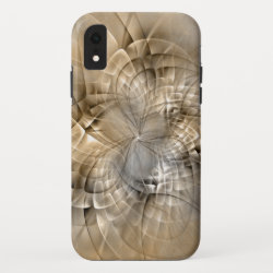 Earth Tones Abstract Modern Fractal Art Texture iPhone XR Case