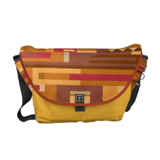 Earth tones abstract pattern everyday bag messenger bags