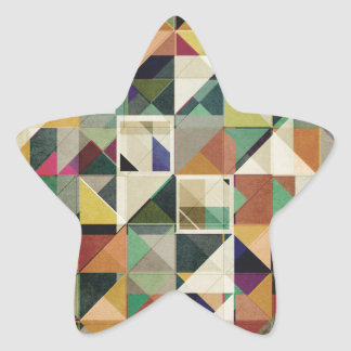 Earth Tones Abstract Star Sticker