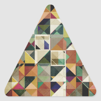 Earth Tones Abstract Triangle Sticker