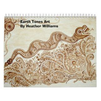 Earth Tones Art Calendar 2007