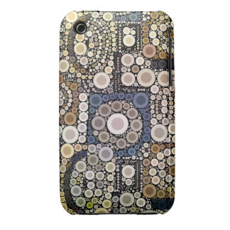 Earth Tones Concentric Circles Mosaic Pattern iPhone 3 Case-Mate Case