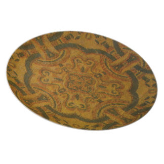 Earth Tones Floral Design Plate