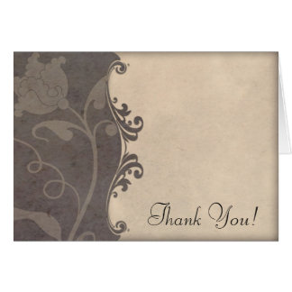 Earth Tones Floral Wedding Thank You Cards