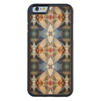 Earth Tones Geometric Abstract Pattern Carved® Maple iPhone 6 Bumper