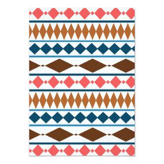 Earth Tones Geometric Tribal Pattern 5x7 Paper Invitation Card