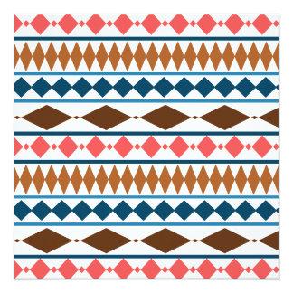 Earth Tones Geometric Tribal Pattern Invitation