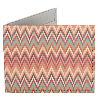 Earth Tones Ikat Chevron Zig Zag Stripes Pattern Tyvek Wallet