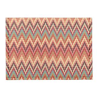 Earth Tones Ikat Chevron Zig Zag Stripes Pattern Tyvek® Card Case Wallet
