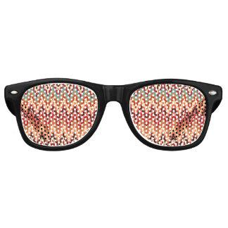 Earth Tones Ikat Chevron Zig Zag Stripes Pattern Party Sunglasses