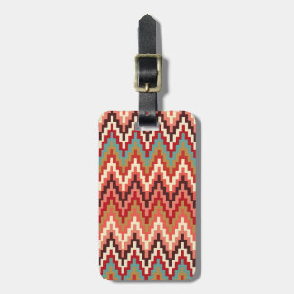 Earth Tones Ikat Chevron Zig Zag Stripes Pattern Tags For Bags