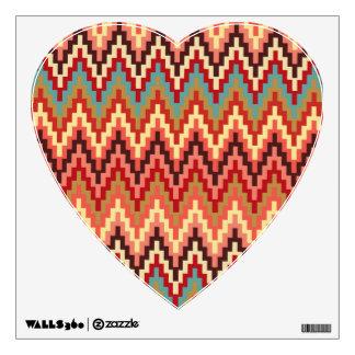 Earth Tones Ikat Chevron Zig Zag Stripes Pattern Wall Sticker