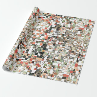 Earth Tones Pattern Wrapping Paper