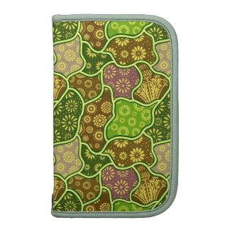 Earth Tones Retro Flowers & Shapes Pattern Folio Planner