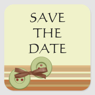 EARTH TONES SAVE -THE-DATE STICKER