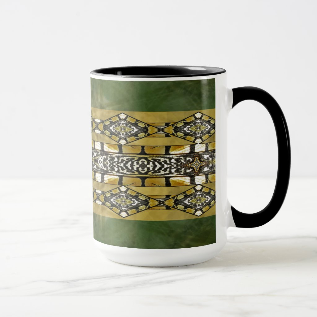 Earth Tones Tribal Abstract Pattern Mug