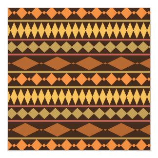 Earth Tones Tribal Design Geometric Pattern Invitation