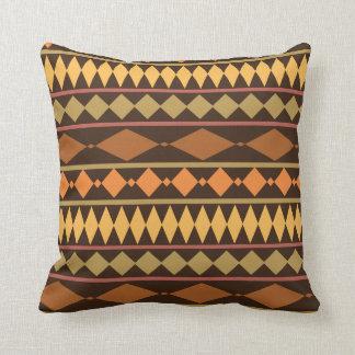 Earth Tones Tribal Design Geometric Pattern Throw Pillow