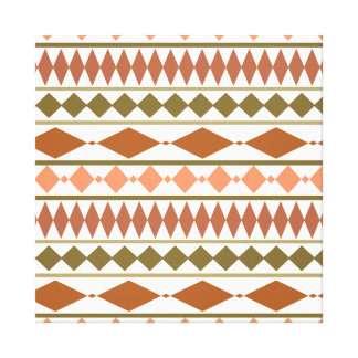 Earth Tones Tribal Geometric Pattern Stretched Canvas Prints