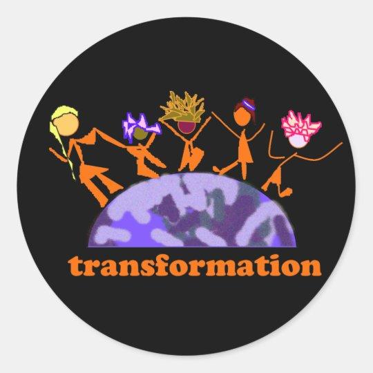 Earth Transformation Classic Round Sticker