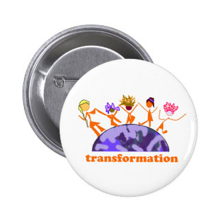 Earth Transformation Pinback Buttons