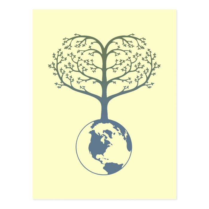Earth Tree Heart Postcard