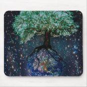 Earth Tree of Life Mouse Pad (<em>$11.60</em>)