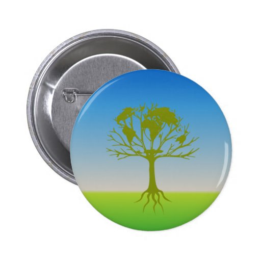 Earth Tree Of Life Pinback Button