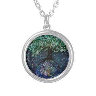 Earth Tree of Life Silver Plated Necklace