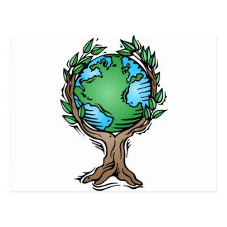 earth tree postcard
