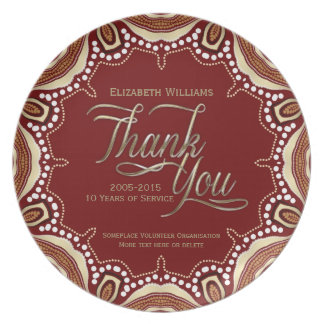 Earth Tribe Thank You Keepsake Gift Plate