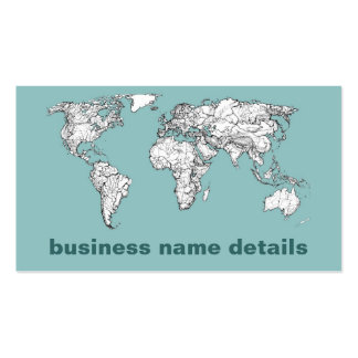 Earth turquoise ink business card template
