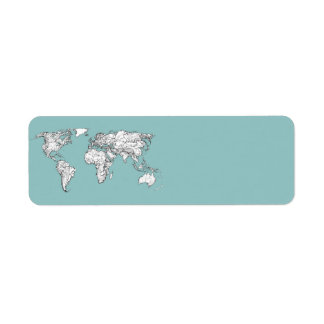 Earth turquoise ink label