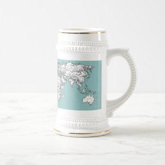 Earth turquoise ink mugs