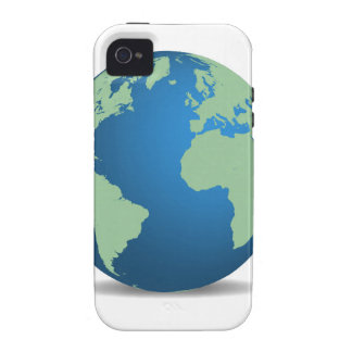 earth two on white jpg Case-Mate iPhone 4 cases