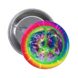 Earth, Tye Dye, and Peace Buttons