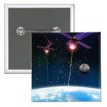 Earth Under Attack 2 Inch Square Button