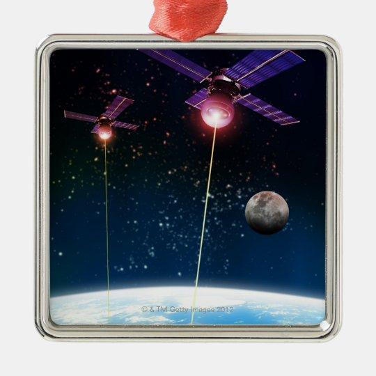 Earth Under Attack Metal Ornament