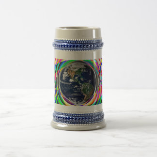 Earth Vibes by Kenneth Yoncich Beer Stein