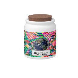 Earth Vibes by Kenneth Yoncich Candy Jar