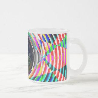 Earth Vibes by Kenneth Yoncich Frosted Glass Coffee Mug