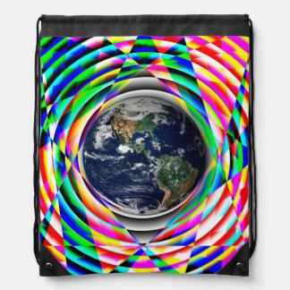 Earth Vibes Drawstring Bag