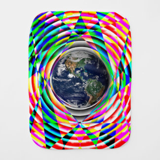 Earth Vibes v1 by Kenneth Yoncich Baby Burp Cloth