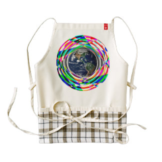 Earth Vibes Zazzle HEART Apron