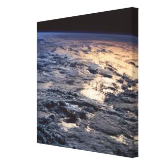 Earth Viewed from a Satellite Canvas Print