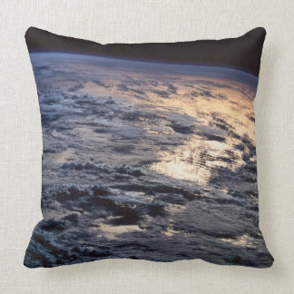 Earth Viewed from a Satellite Throw Pillow